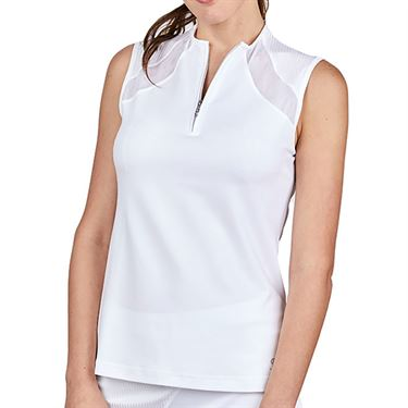 Sofibella Alignment Sleeveless Top Plus Size Womens White 2016 WHTP