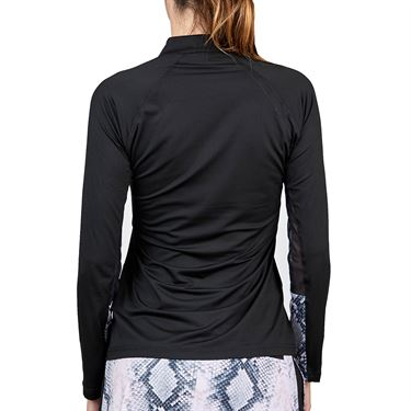 Sofibella Rose Anaconda Long Sleeve Top Womens Black 2034 BLK