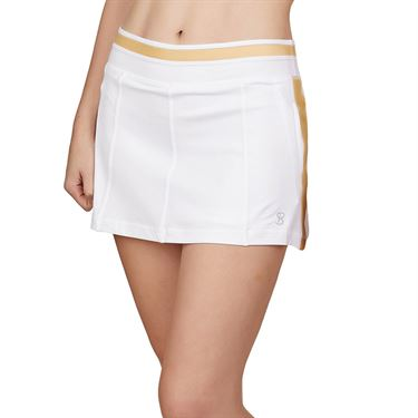 Sofibella Club Lux 13 inch Skirt Womens White/Gold 2037 WHT
