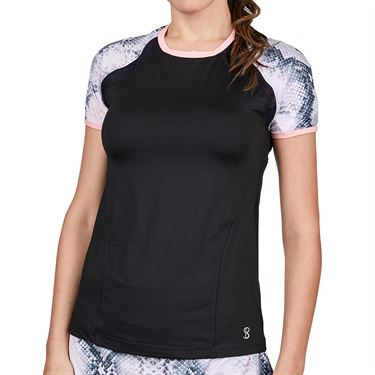 Sofibella Rose Anaconda Top Womens Black 2041 BLK