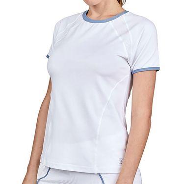 Sofibella Alignment Short Sleeve Top Plus Size Womens White 2041 WHTP