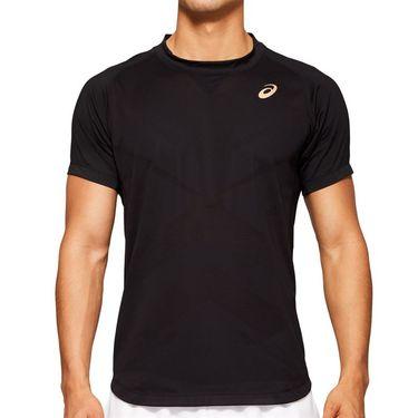 Asics Elite Tennis Shirt Mens Performance Black 2041A079 001