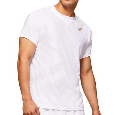 Asics Elite Tennis Shirt Mens Brilliant White 2041A079 100