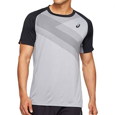Asics Club Graphic Tee Shirt Mens Sheet Rock 2041A085 020