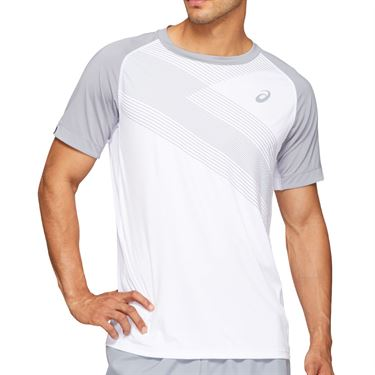 Asics Club Graphic Tee Shirt Mens Brilliant White 2041A085 100