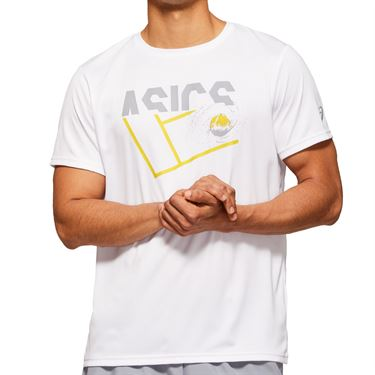 Asics Practice Graphic Tee Shirt Mens Brilliant White 2041A090 100
