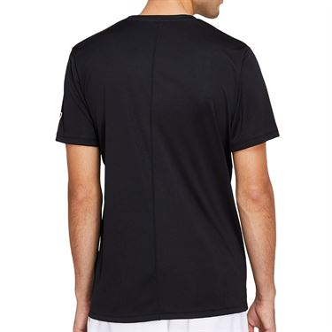 Asics Practice Spiral Tee Shirt Mens Black/Brilliant White 2041A100 002