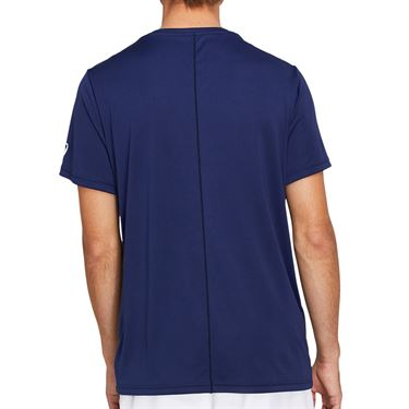 Asics Practice Spiral Tee Shirt Mens Peacoat/Sunrise Red 2041A100 411