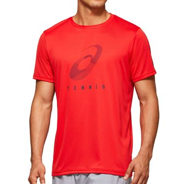 Asics Practice Spiral Tee Shirt Mens Classic Red 2041A100 600