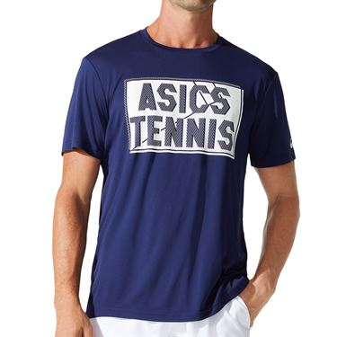 Asics Court Graphic Tee Shirt Mens Peacoat 2041A143 400