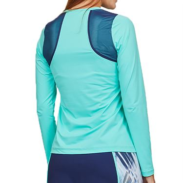 Sofibella Speed Lines Long Sleeve Top Womens Mint 2042 MNT