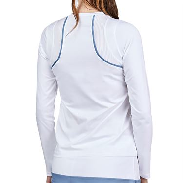 Sofibella Alignment Long Sleeve Top Womens White 2042 WHT