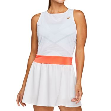Asics Tennis Dress Womens Brilliant White/Sunrise Red 2042A091 103