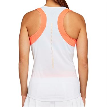 Asics Tennis Tank Womens Brilliant White/Sunrise Red 2042A092 103