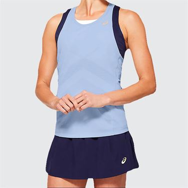 Asics Elite Tennis Tank Womens Soft Sky 2042A092 405