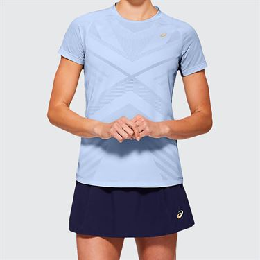 Asics Elite Tennis Tee Shirt Womens Soft Sky 2042A093 405