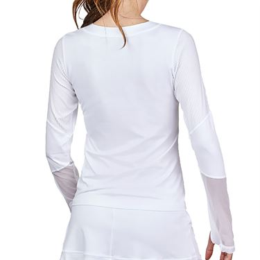Sofibella Alignment Long Sleeve Top Plus Size Womens White 2064 WHTP