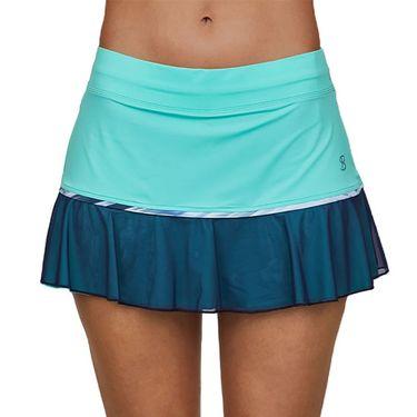 Sofibella Speed Lines 13 inch Skirt Womens Mint 2070 MNT
