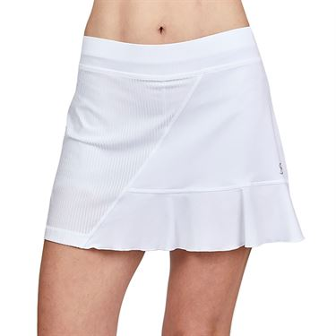 Sofibella Alignment 15 inch Skirt Plus Size Womens White 2071 WHTP