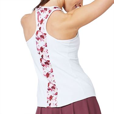 Lija Daring Greatly Bracket Tank Womens White/Flora 20A 1673T2