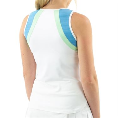 Lija Go With The Flow Bea Tank Womens White/Surf Blue/Pistachio 20S 1664T4