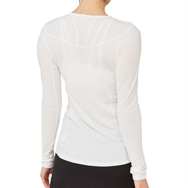 Lija Sweet Spot Interval Long Sleeve Top Womens White 20S 1670T3