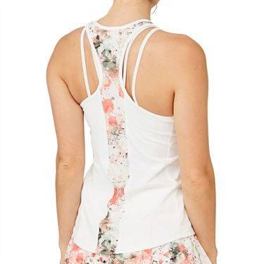Lija Sweet Spot Bracket Tank Womens White/Splatter 20S 1673T3