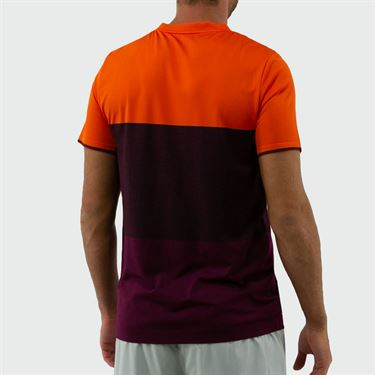 Lotto Top Ten Seamless Crew - Red Orange/Grape Wine