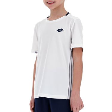 Lotto Squadra Boys Tee Shirt Brilliant White 210381 07R
