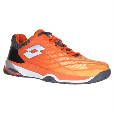 Lotto Mirage 100 Speed Mens Tennis Shoe - Red Orange/White/Asphalt