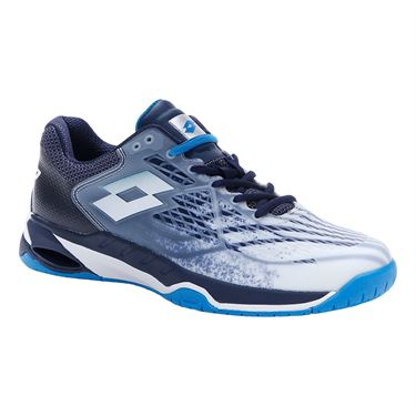 Lotto Mirage 100 Speed Mens Tennis Shoe White/Blue/Navy 210732 5Z0