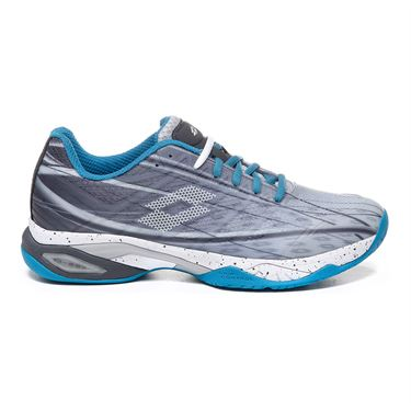 Lotto Mirage 300 Speed Mens Tennis Shoe - Silver Metal 2/All White/Mosaic Blue