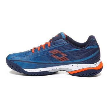 Lotto Mirage 300 Speed Mens Tennis Shoe - Mosaic Blue/Red Orange/Navy Blue