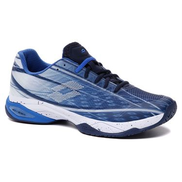 Lotto Mirage 300 Speed Mens Tennis Shoe Navy Blue/All White/Nebulas Blue 210734 6VH