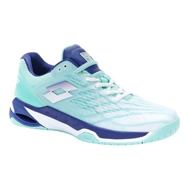 Lotto Mirage 100 Speed Womens Tennis Shoe White/Blue/Green 210739 5Z2