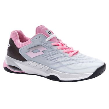 Lotto Mirage 100 Speed Womens Tennis Shoe All White/Pink 210739 6VL