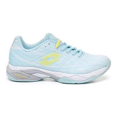 Lotto Mirage 300 Speed Womens Tennis Shoe - Clearwater/All White/Acid Yellow