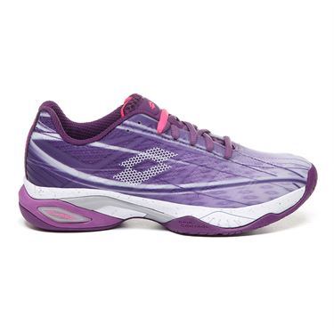 Lotto Mirage 300 Speed Womens Tennis Shoe - Charisma Violet/All White/Funky Pink