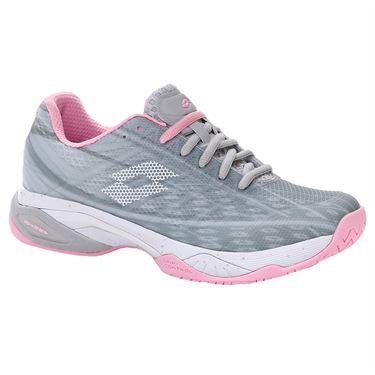 Lotto Mirage 300 Speed Womens Tennis Shoe Silver Metal/All White/Pink 210741 6VO