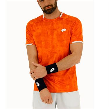 Lotto Top Ten Printed Crew - Red Orange