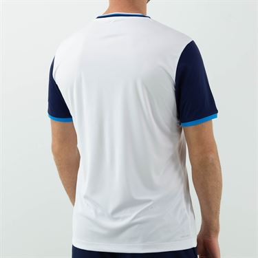Lotto Top Ten II Block Tee Shirt Mens Bright White/Navy Blue 212820 1Q5