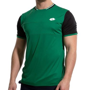 Lotto Top Ten II Block Tee Shirt Mens Green/All Black 212820 5PH