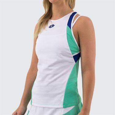 Lotto Top Ten Tank Womens Bright White/Green Cabbage 212830 5PC