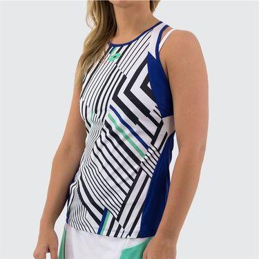 Lotto Top Ten Tank Womens Bright White/Sodalite Blue 212830 3ZM