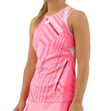 Lotto Top Ten Print Tank Womens Sweet Rose/Vivid Rose 212831 5PB