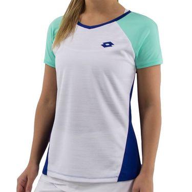 Lotto Top Ten Tee Shirt Womens - White/Sodalite Blue