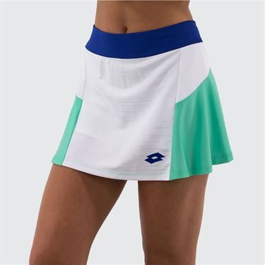 Lotto Top Ten Skirt Womens Bright White/Green Cabbage 212835 5PC