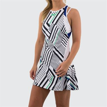 Lotto Top Ten Dress Womens Bright White/Sodalite Blue 212838 3ZM