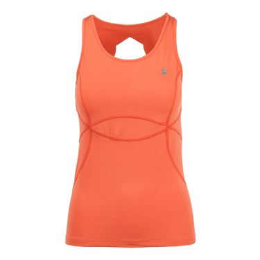 Pure Lime Blue Mist Open Back Tank - Hot Coral