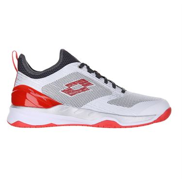 Lotto Mirage 200 Speed Mens Tennis Shoe White/Red/Asphalt 213627 605
